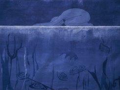 Jään alla, puupiirros, 1999, 51x81 cm