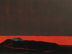 Syksy, puupiirros, 2000, 130x78 cm