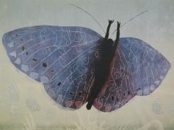 Kuoriutunut, puupiirros, 1999, 94x125 cm