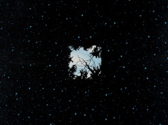 Ensimmäinen taivas. puupiirros 2007, 121x121 cm
