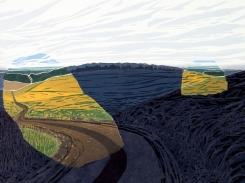 Muisto, puupiirros, 2004, 40x50 cm