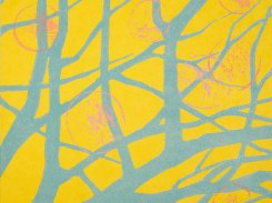 Sarjasta, Viisi vuodenaikaa, syksy, Puupiirros, 2012, 32x32 cm