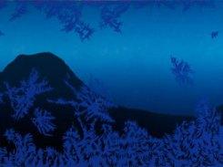 Näkymä II, puupiirros, 2010, 25x121 cm