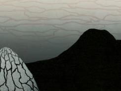 Usva, puupiirros, 2011, 25x121 cm