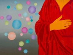 Laulu, puupiirros, 2016, 61x81 cm