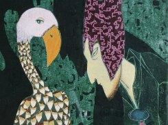 Ehdotus, puupiirros, 1994, 120x74 cm