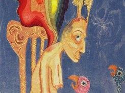Paratiisilinnut, puupiirros, 1996, 130x60 cm