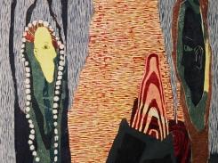 Ystävyys, puupiirros, 1996, 85x65 cm