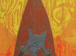 Jäässä, puupiirros, 1996 61x42 cm