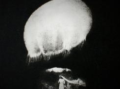 Morsian, paperilitografia levylle, 2013 , 20x20 cm